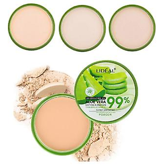 Aloe Vera Soft Face Whitening, Concealer, Foundation Waterproof Powder - Make
