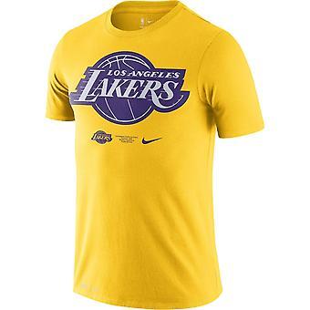 Nike Nba Los Angeles Lakers Dri-fit T-shirt Yellow