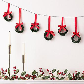 Hanging Christmas Wreath Bunting Decoration 2m