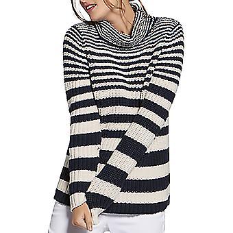 Basler | Cotton Striped Turtleneck Sweater