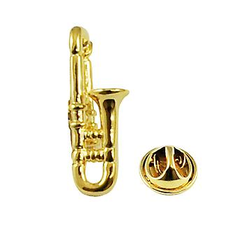 Ties Planet Gold Plaqué Trombone Pipon Rouge Badge