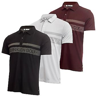 Calvin Klein Mens Teton Performance Slim Breathable Wicking Polo Shirt