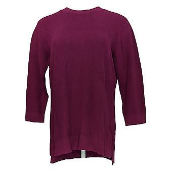 Isaac Mizrahi Live! Women's Sweater 3/4 Sleeve Purple A366530