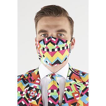 Maska do ust Abstrakcyjna kolorowa z klipami zmywalna maska kolorowa