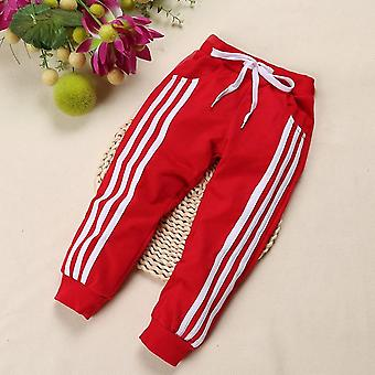 Winter Autumn Kids Pants- Cotton Three Bars Children's Track Pants Boys / Girls Pants Clothes