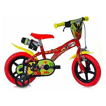 Dino Bing 12 inch boys fixed gear red bicycle for 3 - 5 years