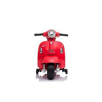 RICCO Licensed vespa gts 6v kids electric ride on scooter bike with training