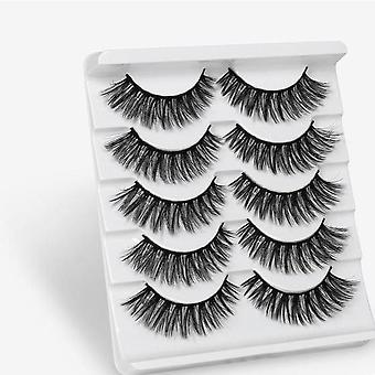 3d Faux Mink Hair False Eyelashes, Wispy Makeup Beauty Extension