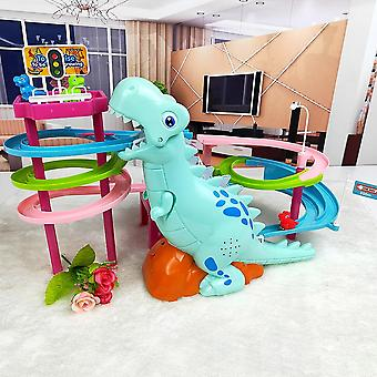 Electric Slide Railcar Track Toy-dinosaur Climb Stairs
