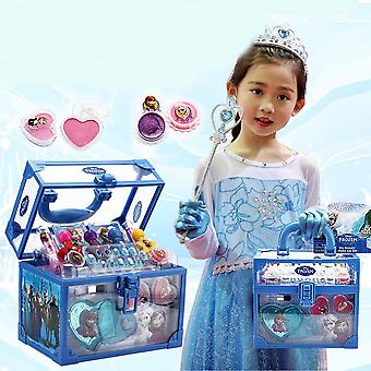 Kids Cosmetics Make-up Set- Ice Romance Princess Makeup Case, Toys