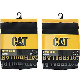 4 perechi de CAT Caterpillar Mens Adults Boxer Shorts Chiloi lenjerie de corp - Negru