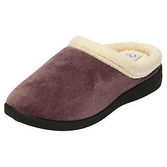 JWF Warm Lined Memory Foam Mule Slippers Clogs