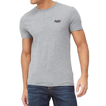 Logotipo vintage superdry bordado T-Shirt Cinza 27