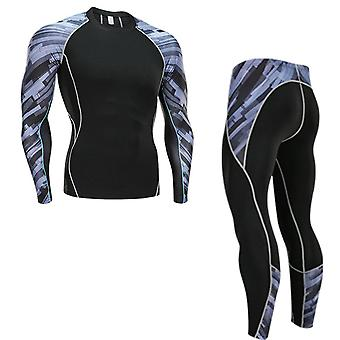 New Men's Thermal Underwear Set Speed Dry Warm Compression Tights Base Layer