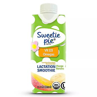 Sweetie pie organics lactation smoothie tropical flavor, 11.1 oz x 4 ea