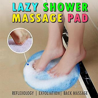 Silicone Bath Shower Back Brush Foot Massager Dead Skin - Anti Skid Pad