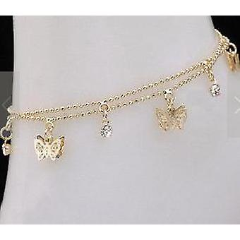 Fashion Women's Foot Chain, Summer Personality Wild Popular, Double Butterfly