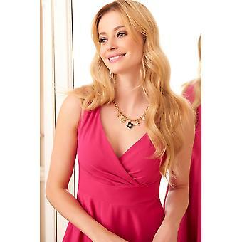 High-waisted Women's Retro Dress V-neck Fa586