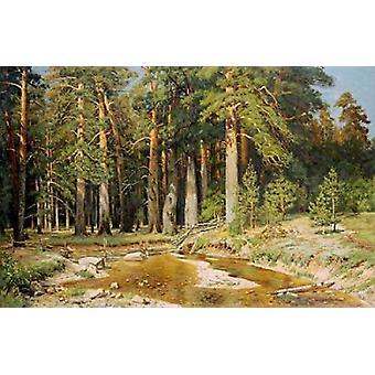 Die Mast-Tree Grove Studie Poster Print von Ivan Ivanovich Shishkin