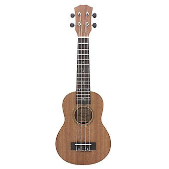 21inch Ukelele Sapele Ukulele 4 String Guitar Mini Guitar Round Shape Sound Hole