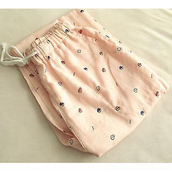 100% Gauze Cotton Home Pants Women Sleep Bottoms Fresh Casual Pajamas Sleepwear