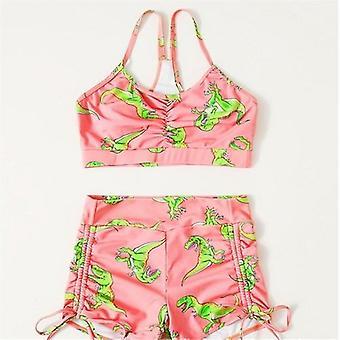 Sexy hohe Taille Bikini String Drawstring Badeanzug
