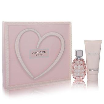 Jimmy Choo L'eau lahjasetti Jimmy Choo 2 oz Eau De Toilette Spray + 3,3 oz Body Lotion