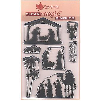 Woodware Clear Stamps - silhueta de Natividade