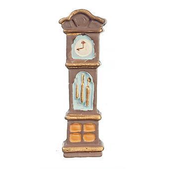 Dolls House Grandfather Clock 1:48 Scale 1/4 Inch Mini Miniature Hall Furniture