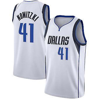 Dallas Mavericks Nr.41 Nowitzki Loose Baschet Jersey Tricouri Sport 3QY039