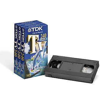 Tdk e240 vhs blank tapes (3 pack)