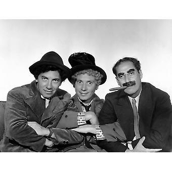 Marx Brothers - Chico Marx Harpo Marx Groucho Marx Photo Print