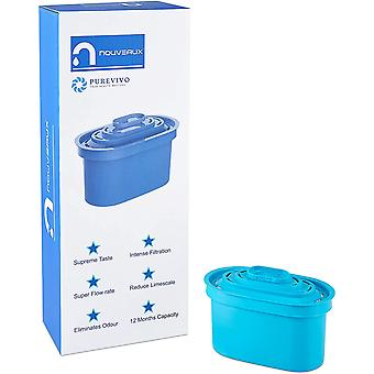 NOUVEAUX Water Filter Cartridge for Reduction of Chlorine and limescale for Fresh Tasting Water