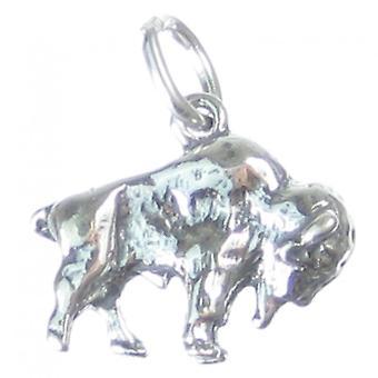 Buffalo Sterling Silver Charm .925 X 1 Buffalos Bison Charms - 3507
