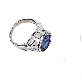 Modrý krychlový zirkonický prsten/náramky/náušnice/přívěsek Náhrdelník Set