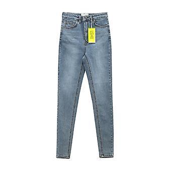 Ženy's Džíny s vysokým pasem Stretch Skinny Džínové kalhoty Podzimní zimní Retro Umyté