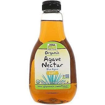 Now Foods, Comida Real, Néctar Agave Azul Orgánico, Luz, 23.28 oz (660 g)