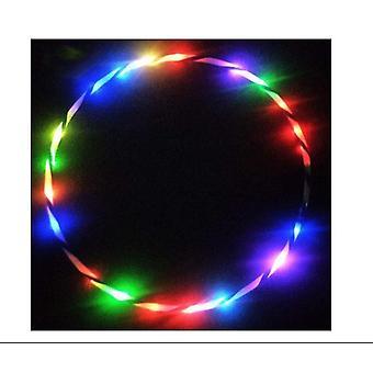 80cm led vanne, Willway 18 väri strobing ja muuttuva vanne valo led tanssi vanteet lapsille ja aikuisille kokoontaitettava