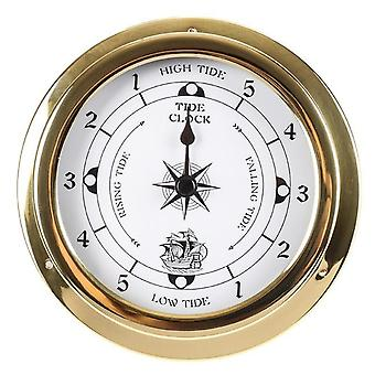 145Mm wall mounted thermometer hygrometer barometer tidal clock weather station r9uf
