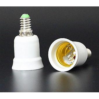 E14 a E27- Soporte de lámpara ignífugo, base de zócalo del convertidor, conversión del adaptador,