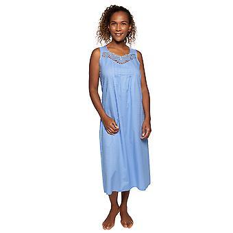 Cyberjammies Nora Rose Elizabeth 1528 Women's Blue Spotted Cotton Nightdress
