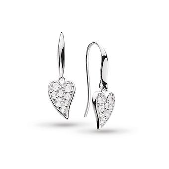 Kit Heath Desire Precious White Topaz Heart Drop Boucles d'oreilles 50507WT