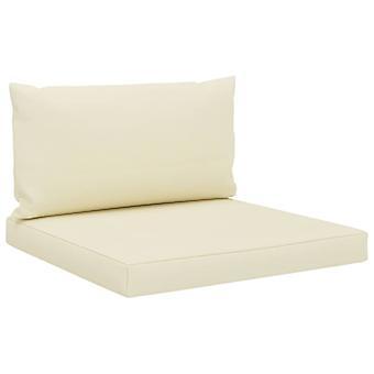 vidaXL pallet sofá pads 2 uds. tela crema