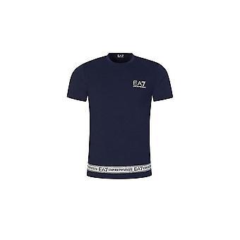 Emporio Armani EA7 Cotton Tape Logo Navy T-shirt
