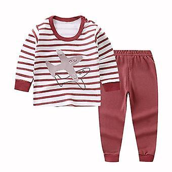 Neugeborenen Kinder Pyjama Sets, Cartoon Casual Langarm T-shirt Tops