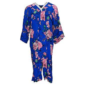 G.I.L.I. got it love it Women's Petite Top Kimono Duster Blue A306115