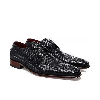 Jeffery-West Woven Leather Scarface Gibson Shoes