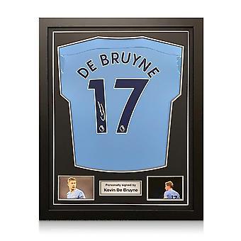 Kevin De Bruyne signerte Manchester City-skjorte. 2020-21. Innrammet