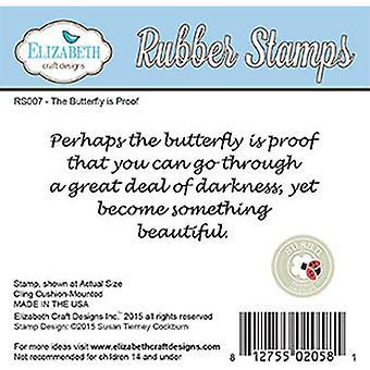 Elizabeth Craft Designs Perhaps Red Rubber Stamp