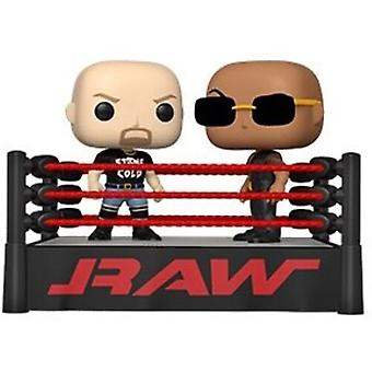Wwe- The Rock Vs Stone Cold In Wrestling Ring USA import